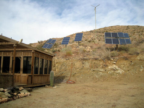 house with solar array